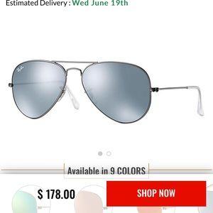 Ray Ban Aviator 3025 Silver Flash Sunglasses